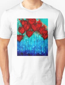 Hearts on Fire - Romantic Art By Sharon Cummings Unisex T-Shirt