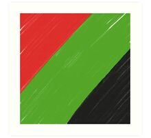 Red, Green and Black Art Print