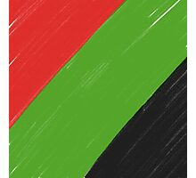 Red, Green and Black Photographic Print