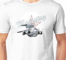 Cartoon AWACS Plane Unisex T-Shirt