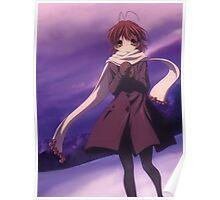 Nagisa Winter Coat Colour - Clannad Poster