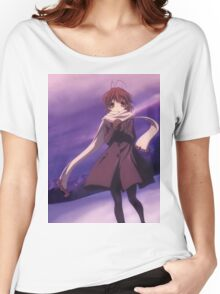 Nagisa Winter Coat Colour - Clannad Women's Relaxed Fit T-Shirt