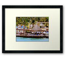 Cozumel Shores Framed Print