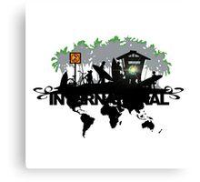 skateboarder Community Illustration Canvas Print