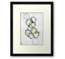 Circle Abstract - Counting To Ten Framed Print