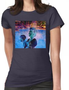 Electric Swimmer Womens Fitted T-Shirt