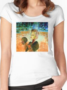 Electric cyborg  Women's Fitted Scoop T-Shirt