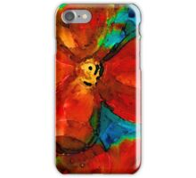Garden Spirits - Vibrant Red Flowers By Sharon Cummings iPhone Case/Skin