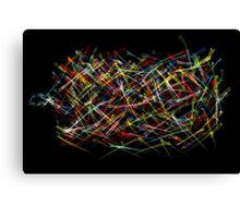 Particle war Canvas Print