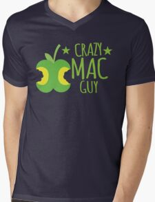 Crazy Mac guy Mens V-Neck T-Shirt