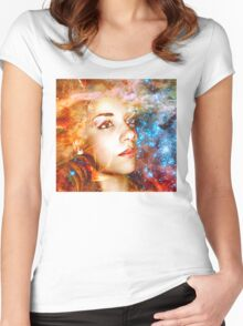 Journey to the Stars Women's Fitted Scoop T-Shirt