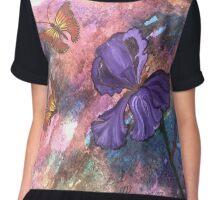 Pastel Monarchs Chiffon Top