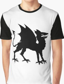 Medieval dragon silhouette Graphic T-Shirt