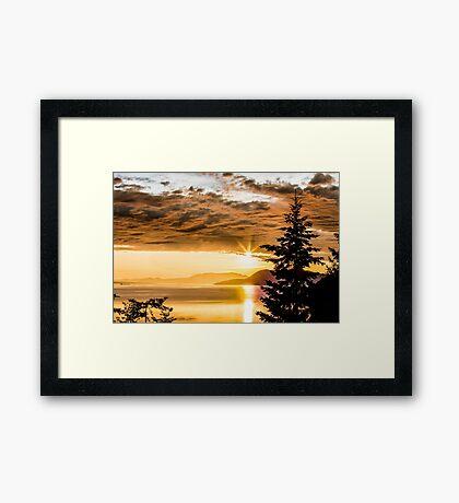 Chuckanut Sunset Framed Print