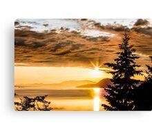 Chuckanut Sunset Canvas Print