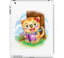 Reading cat iPad Case/Skin