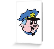 Chief Piggum Greeting Card