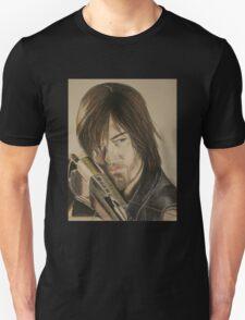 Daryl Dixon TWD in Derwent pencils Unisex T-Shirt
