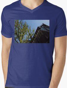 Amsterdam Spring - Characteristic Facade Plus Unusual Tree - Left Mens V-Neck T-Shirt