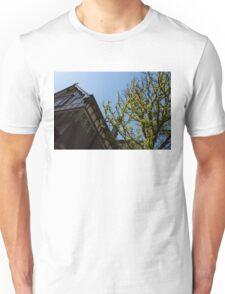 Amsterdam Spring - Characteristic Facade Plus Unusual Tree - Right Unisex T-Shirt