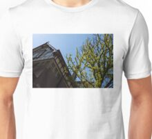 Amsterdam Spring - Characteristic Facade Plus Unusual Tree - Right Unisex T-Shirt
