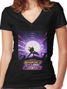 Ratchet And Clank Nexus Women's Fitted V-Neck T-Shirt
