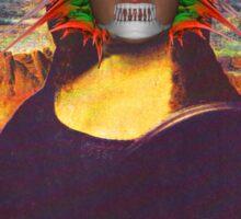Cyborg Mona Lisa Sticker
