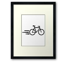 Fast bicycle Framed Print