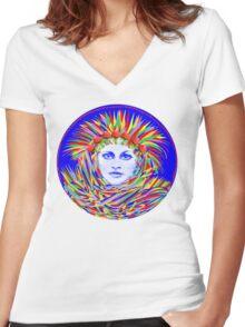 Mushroom Dream Women's Fitted V-Neck T-Shirt