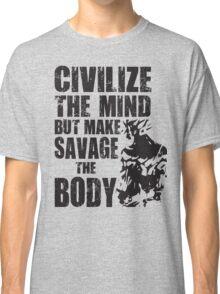 Make Savage The Body (Saiyan Ripped Back) Classic T-Shirt