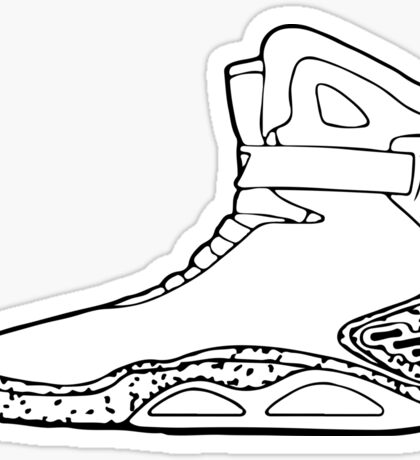 Back to the future shoe Sticker