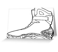 Back to the future shoe Greeting Card