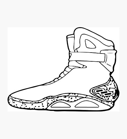 Back to the future shoe Photographic Print