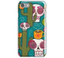 Skulls, Cacti and Atomic Coffee iPhone Case/Skin