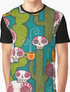 Skulls, Cacti and Atomic Coffee Graphic T-Shirt