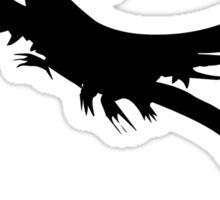 Flying wyvern silhouette Sticker