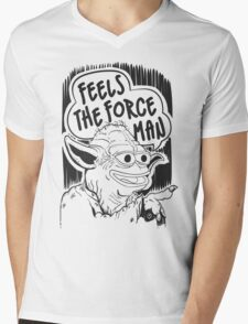 """Pepe The Frog """"Feels The Force Man"""" Mens V-Neck T-Shirt"""