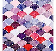 Purple Fish Scale Pattern Photographic Print