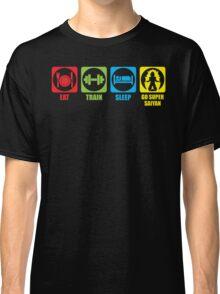 Eat, Train, Sleep, Go Super Saiyan (Horizontal) Classic T-Shirt