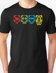 Eat, Train, Sleep, Go Super Saiyan (Horizontal) Unisex T-Shirt