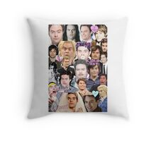 Bill Hader collage Throw Pillow