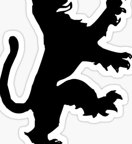 Heraldic lion Sticker
