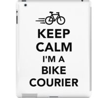 Keep calm I'm a bike courier iPad Case/Skin