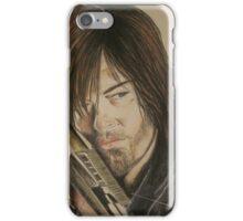 Daryl Dixon TWD in Derwent pencils iPhone Case/Skin