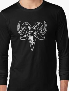 Satanic Goat Head (white) Long Sleeve T-Shirt