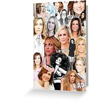 Kristin Wiig collage Greeting Card