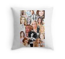 Kristin Wiig collage Throw Pillow