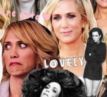 Kristin Wiig collage Sticker