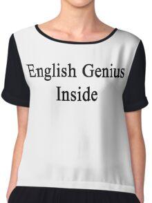 English Genius Inside  Chiffon Top