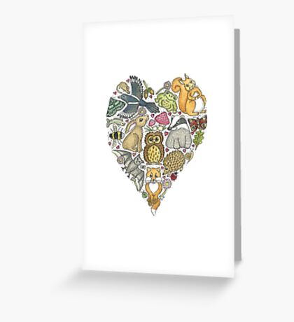 Love Nature Heart Greeting Card